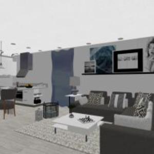 floorplans butas svetainė valgomasis 3d