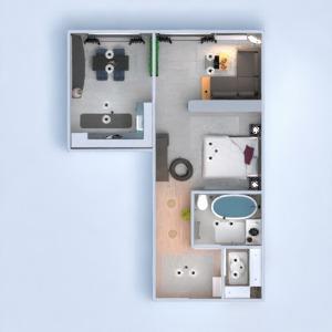 floorplans apartamento banheiro cozinha sala de jantar patamar 3d