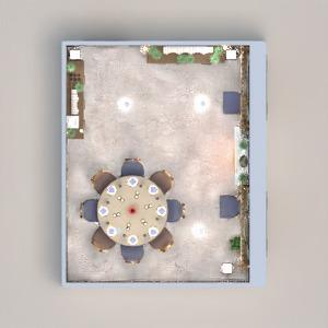 planos casa muebles decoración iluminación comedor 3d