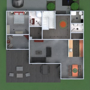 planos apartamento casa terraza muebles cuarto de baño dormitorio salón cocina exterior habitación infantil iluminación comedor arquitectura descansillo 3d