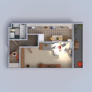 planos apartamento muebles decoración cuarto de baño dormitorio salón cocina estudio descansillo 3d