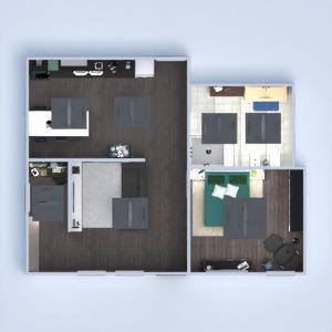 floorplans dom meble wystrój wnętrz pokój dzienny kuchnia biuro gospodarstwo domowe kawiarnia jadalnia 3d