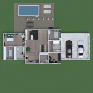 floorplans namas terasa baldai dekoras miegamasis 3d
