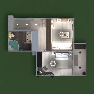 floorplans butas baldai dekoras vonia miegamasis svetainė virtuvė apšvietimas renovacija sandėliukas studija prieškambaris 3d