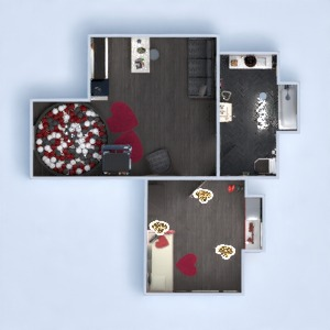 floorplans house furniture decor bedroom studio 3d