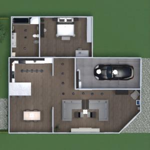 floorplans appartement meubles décoration salle de bains chambre à coucher salon garage cuisine extérieur bureau eclairage salle à manger entrée 3d