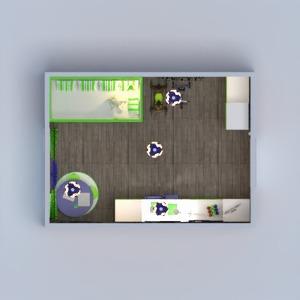 floorplans décoration chambre à coucher chambre d'enfant eclairage espace de rangement 3d
