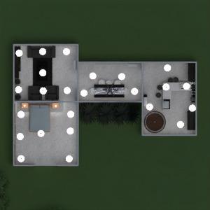 floorplans casa mobílias banheiro quarto quarto cozinha área externa 3d