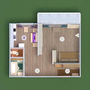 floorplans wohnung mobiliar dekor do-it-yourself badezimmer schlafzimmer küche beleuchtung lagerraum, abstellraum eingang 3d