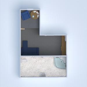 floorplans meubles décoration chambre à coucher bureau espace de rangement 3d