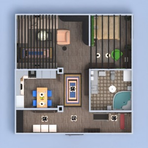 floorplans wohnung mobiliar dekor schlafzimmer küche 3d