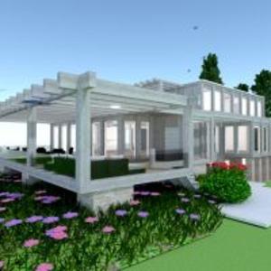 floorplans haus terrasse landschaft architektur 3d