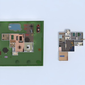 floorplans house terrace bedroom living room kitchen dining room architecture 3d