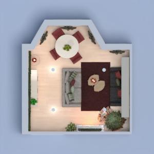 планировки квартира мебель декор гостиная столовая 3d