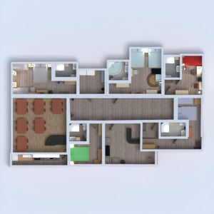 floorplans meubles chambre à coucher rénovation salle à manger architecture 3d
