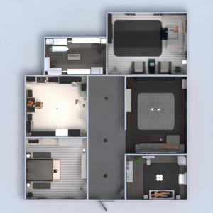 planos apartamento muebles decoración cuarto de baño dormitorio salón cocina hogar descansillo 3d
