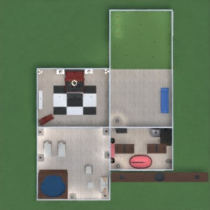 floorplans maison salle de bains chambre à coucher salon garage cuisine café salle à manger 3d