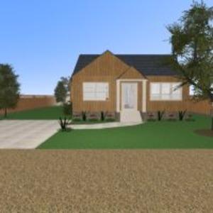 floorplans namas terasa dekoras svetainė virtuvė eksterjeras kraštovaizdis аrchitektūra prieškambaris 3d