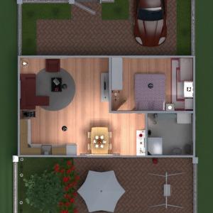 floorplans casa mobílias garagem cozinha área externa quarto infantil sala de jantar patamar 3d