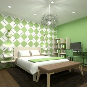 floorplans baldai dekoras miegamasis 3d