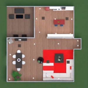 floorplans maison salon cuisine 3d
