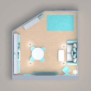 floorplans appartement décoration salon cuisine salle à manger 3d