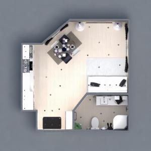 floorplans appartement meubles décoration salle de bains salon cuisine eclairage espace de rangement studio 3d