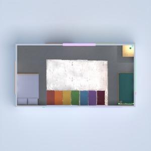 floorplans maison meubles chambre à coucher salon cuisine 3d