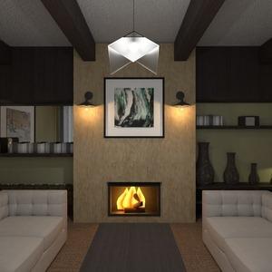 planos casa decoración salón arquitectura 3d