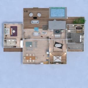 floorplans namas terasa miegamasis eksterjeras аrchitektūra 3d