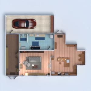 планировки дом декор гостиная кухня 3d