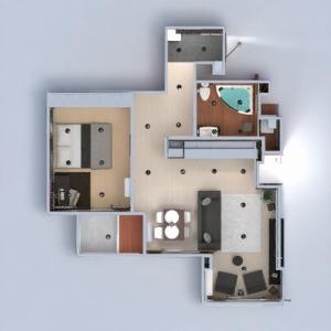 floorplans apartamento mobílias decoração faça você mesmo banheiro quarto quarto cozinha iluminação reforma despensa estúdio patamar 3d