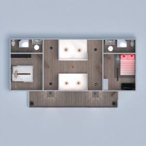 floorplans dom taras meble łazienka sypialnia pokój dzienny kuchnia oświetlenie wejście 3d