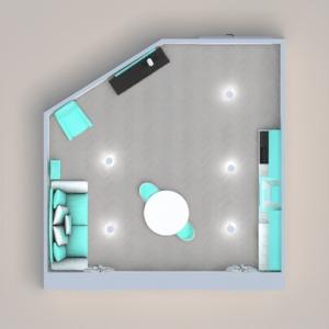 floorplans namas svetainė virtuvė valgomasis 3d