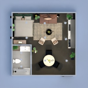 planos decoración cocina iluminación comedor estudio 3d