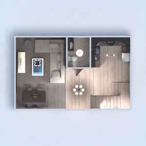 floorplans 独栋别墅 家具 装饰 浴室 卧室 客厅 厨房 儿童房 照明 家电 餐厅 结构 3d