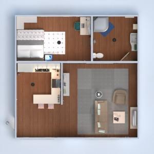 floorplans mieszkanie łazienka sypialnia pokój dzienny kuchnia 3d