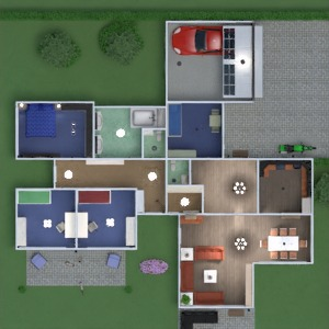 планировки квартира дом терраса кухня детская 3d