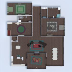 floorplans namas baldai vonia miegamasis svetainė virtuvė valgomasis prieškambaris 3d