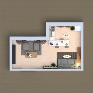 floorplans mobiliar dekor wohnzimmer küche architektur 3d