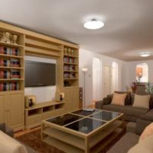 planos apartamento muebles decoración cuarto de baño dormitorio salón cocina iluminación comedor trastero descansillo 3d