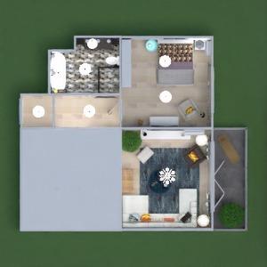 floorplans appartement meubles décoration salle de bains chambre à coucher salon cuisine eclairage maison café salle à manger architecture espace de rangement entrée 3d