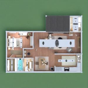 floorplans dom wystrój wnętrz zrób to sam łazienka sypialnia pokój dzienny kuchnia oświetlenie jadalnia architektura 3d