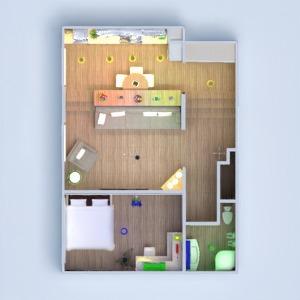 floorplans appartement maison meubles décoration salle de bains chambre à coucher salon cuisine eclairage salle à manger espace de rangement studio entrée 3d