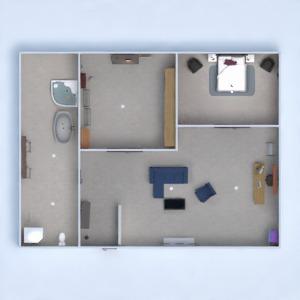 floorplans sypialnia mieszkanie typu studio 3d