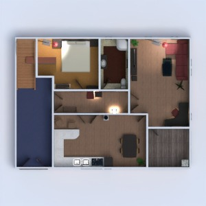 floorplans apartment terrace furniture decor bathroom bedroom living room kitchen 3d