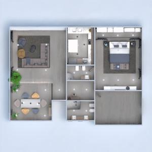 планировки квартира дом мебель спальня гостиная 3d