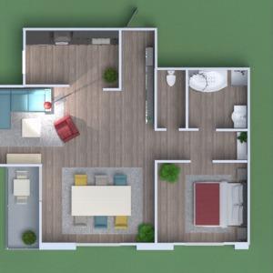 floorplans maison salle de bains chambre à coucher salon cuisine 3d