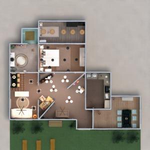 planos casa decoración cuarto de baño salón cocina 3d