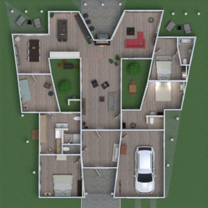 floorplans house kitchen outdoor 3d